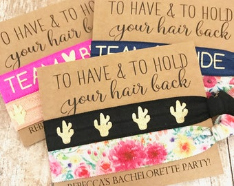 photo relating to To Have and to Hold Your Hair Back Free Printable known as Bachelorette hair ties Etsy