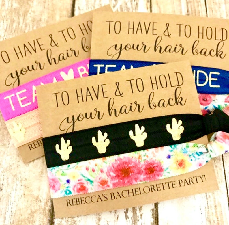 Bachelorette Party Favors  To Have and To Hold Your Hair Back image 0