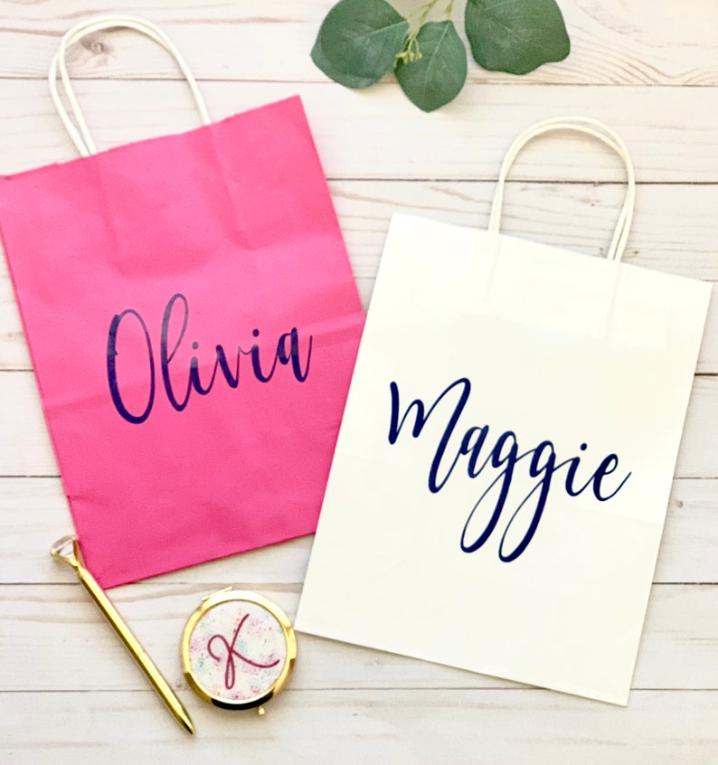 Personalized Gift Bag  Custom Gift Bag-Bridesmaid Gift image 0
