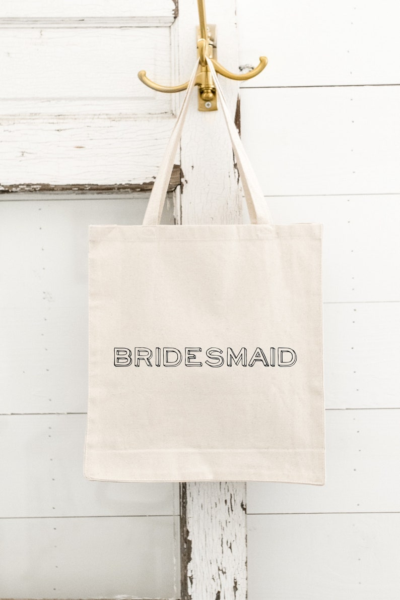 BRIDESMAID Tote Bag Canvas Tote Bag Bride Tote Bag Maid of image 0