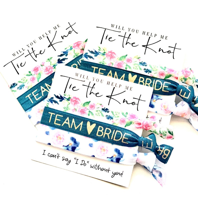 Bridesmaid Gift Will you help me tie the knot Maid of Honor image 0