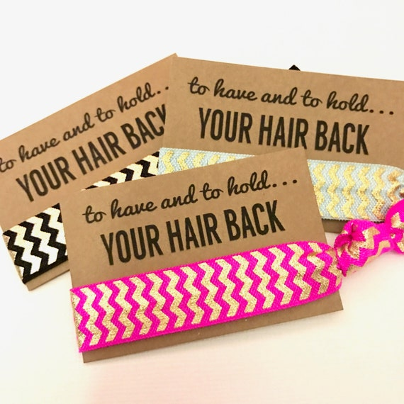 Bachelorette Hair Tie Party Favors    To Have And To Hold Your 86e805efafb