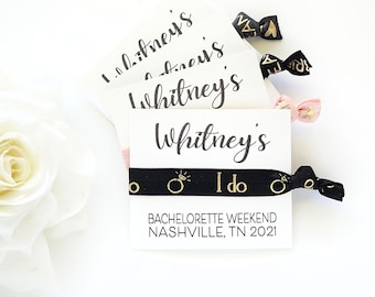Bridesmaid Proposal Hair Tie Favor Cards YOU CHOOSE, I can't tie the knot without you! Help me tie the knot favors bridesmaid gift hair ties