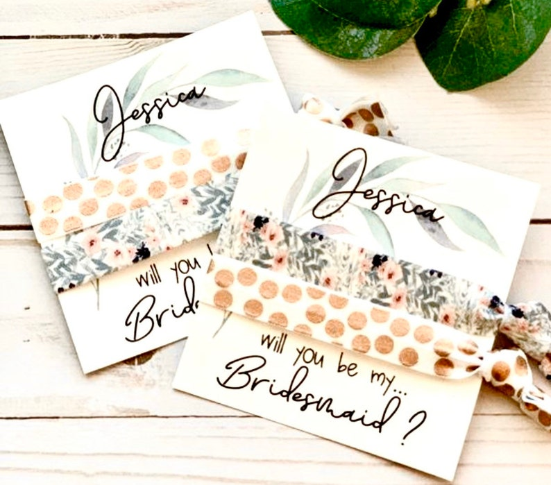 Bridesmaid Proposal Gift  Will you help me tie the knot image 0