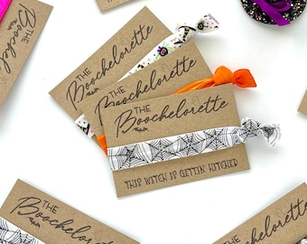 Boochelorette Halloween Party Favors | This Witch is Getting Hitched Bachelorette Decor Fall Autumn Bachelorette Black Cats Skulls Spiders