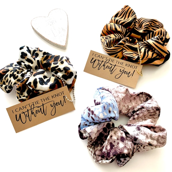 I Couldnt Tie The Knot Without You Bridal Party Hair Scrunchies Bridesmaid Proposal Gifts