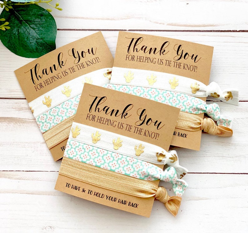 Thank you hair tie favor Bridesmaids Gift  Hair Ties  image 0