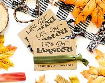 Friendsgiving Let's Get Basted Favors, Thanksgiving Dinner Invitation, Pumpkin Thanksgiving, Fall Holiday Party Favor Gift Turkey Stuffing