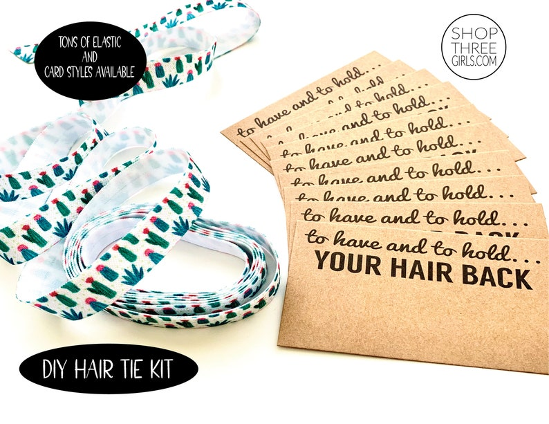 DIY Hair Tie Kit DIY Bachelorette Wedding Make your own image 0