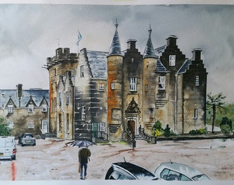 Stonefield Castle Tarbert Scottih Landscape Glasgow Artist