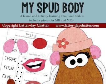 NEW: My Body Spud Game {Sunbeams}
