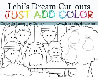 New: Lehi's Dream Cut-outs-JUST ADD COLOR