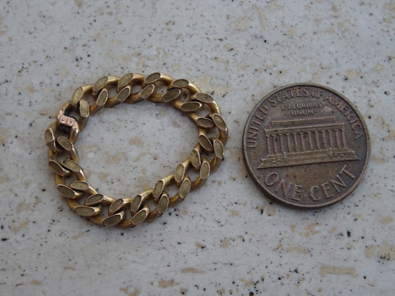 T 4 Vermeil gold plated French ring Jewelry with chains.