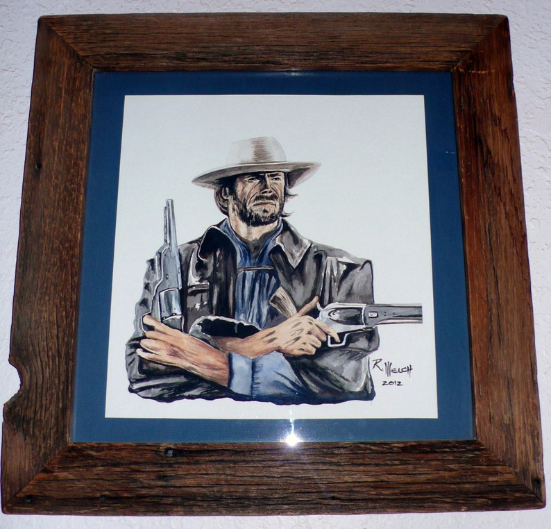 Clint Eastwood The Outlaw Josey Wales - Painting by Rick Welch