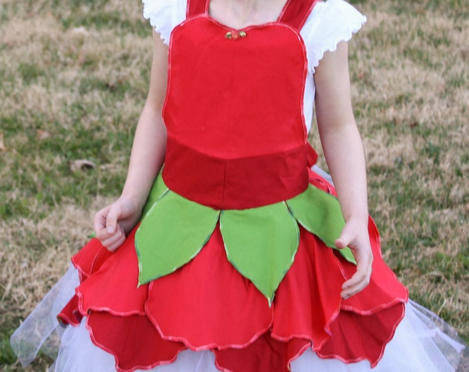 Red Fairy Costume. Birthday Outfit, Handmade in the U.S.A.