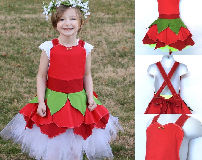 Red Blossom Fairy Dress