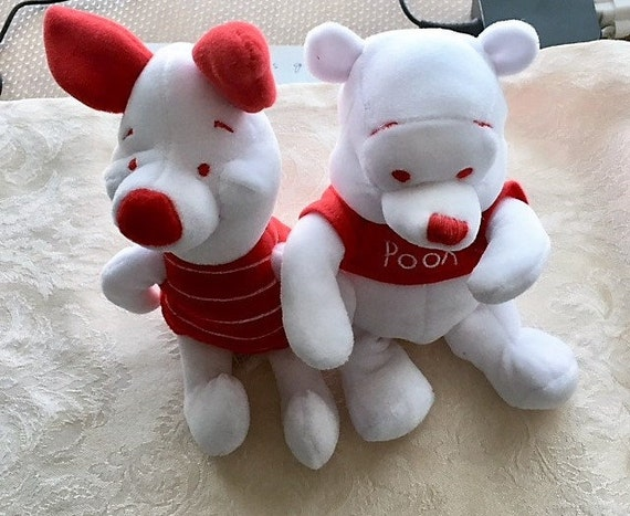 4th Of July Peppermint Pooh And Pigletthe Disney Store Plush Etsy