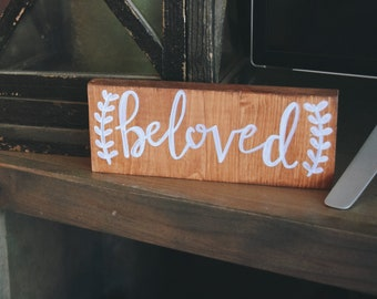 Beloved Hand Painted Wood Sign