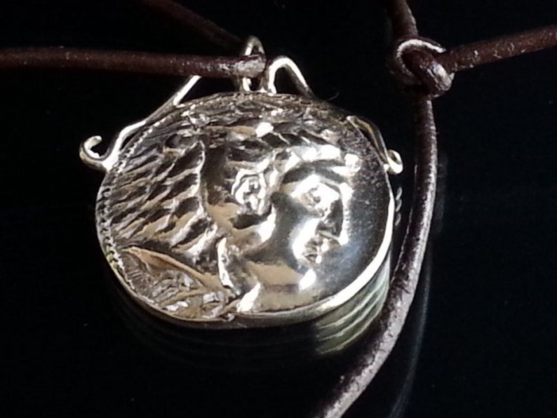 f9b442d33 Alexander the Great Hercules coin snake bale unisex pendant   Etsy
