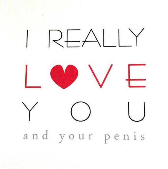I Really Love You Liefde Uw Penis Volwassen Wenskaart Etsy