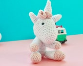 Unicorn crochet stuffed a...