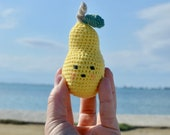 Pear crochet toy, amiguru...