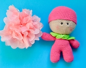 Kawaii Crochet doll, doll...