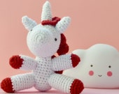 Cute crocheted unicorn, a...