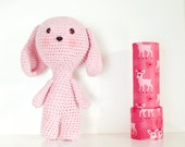 Crochet dog pink, crochet...