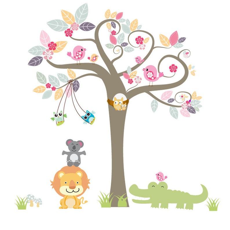 Dschungel Baum Wandtattoo Kinder Baum Wandtattoo | Etsy