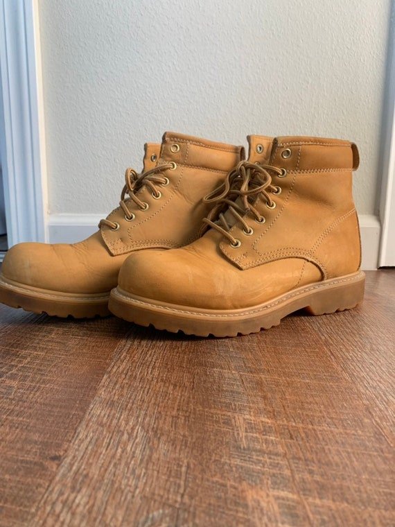 Vintage Leather Land Rover Tan Boots Men's 9