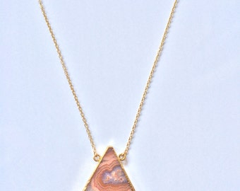 """Gold filled """"Popsicle"""" necklace"""