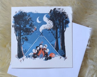 Fairytales and Fire greeting card