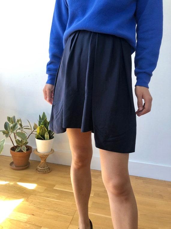 Vintage Philip Lim 3.1 silk navy tulip skirt