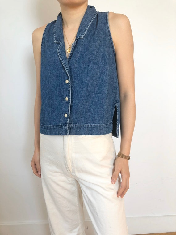 Llana Kohn Medium Dark Denim Vest