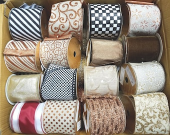 29 Sample Ribbons from the Showroom of Farris Silk