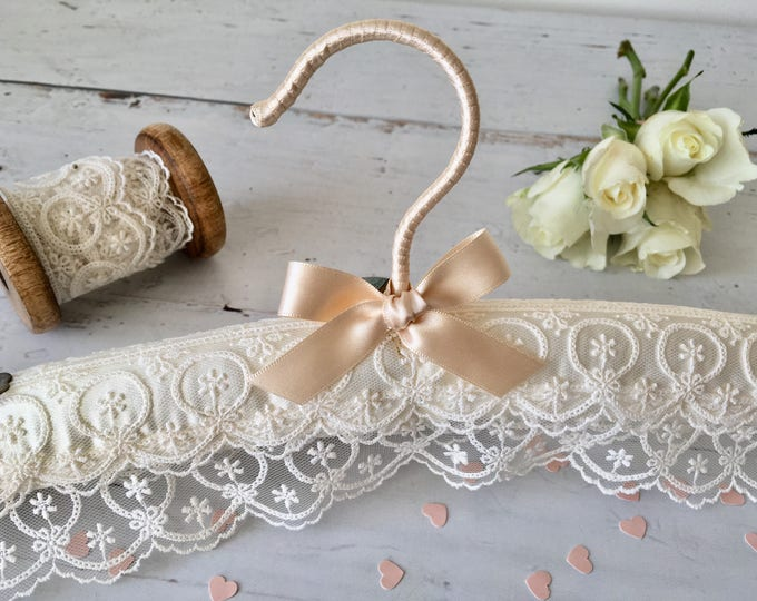 Ivory Tiered Lace Wedding Hanger