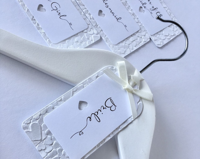 White Wedding Hanger Tag