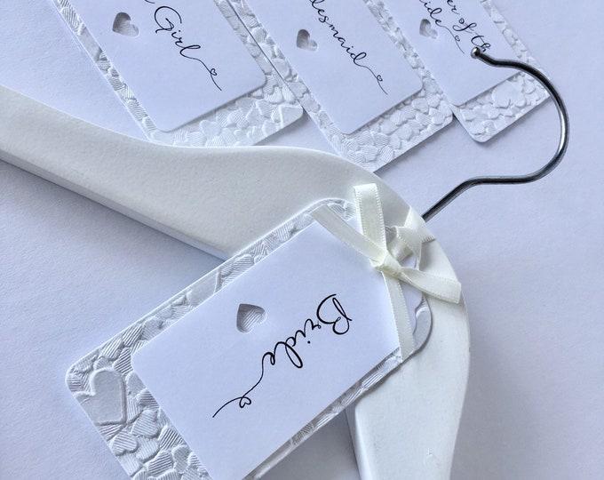White Wedding Hanger Tag