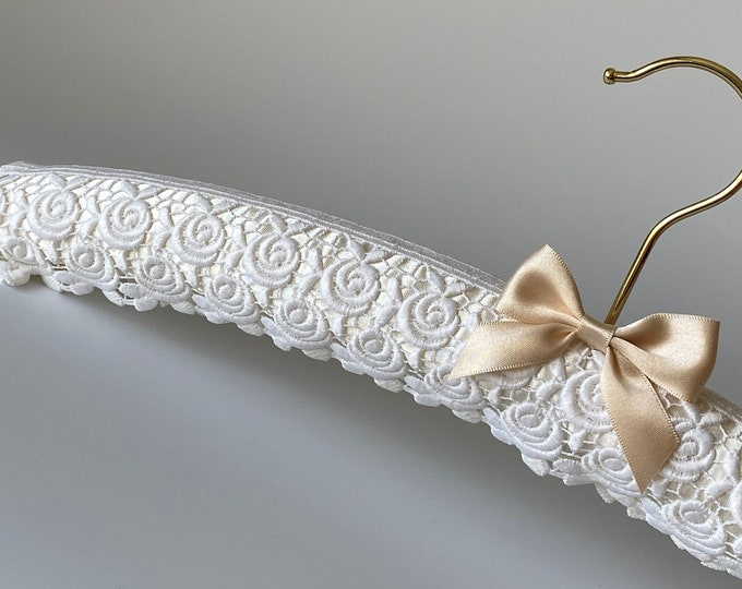 Ivory Guipure Rose Lace Wedding Hanger