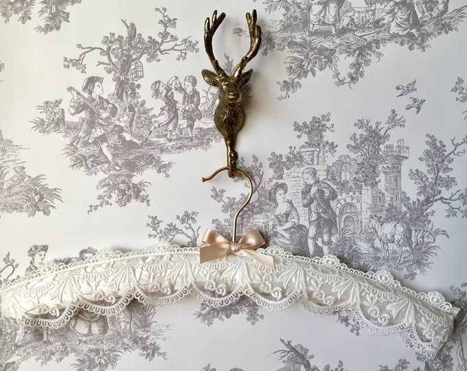 Ivory Embroidered Lace Bridal Hanger