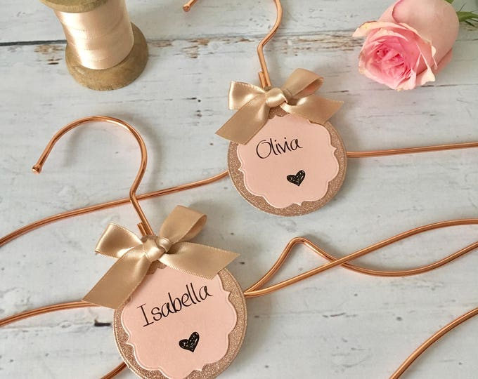 Rose Gold 'Mermaid' Wedding Hanger with Personalized Label