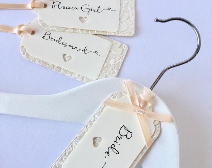 Ivory Wedding Hanger Tags