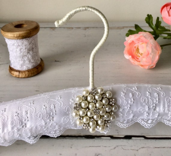 White Wedding Dress Hanger: White Lace Wedding Hanger Lace Wedding Dress Hanger