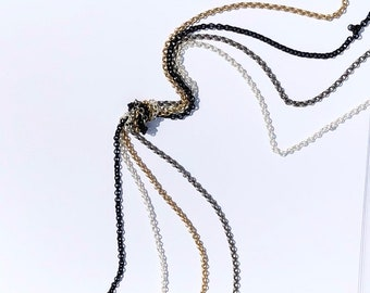 25 ft Gold Filled Rolo Chain Goldfilled 1.4mm Chain by the Foot Wholesale#5509