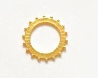 Hammered Ring Connector, Gold Enhancer, Gold Connector, Gold Ring Charm, Gold Ring, Britannium Ring, Hammered Ring, Pewter Connector, Circle