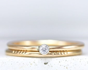 Dainty Ring - Minimalist Ring - Rose Gold Ring - Stacking Ring - Sterling Silver Ring - Ring Set - Thumb Ring - Gold Filled Ring - Promise