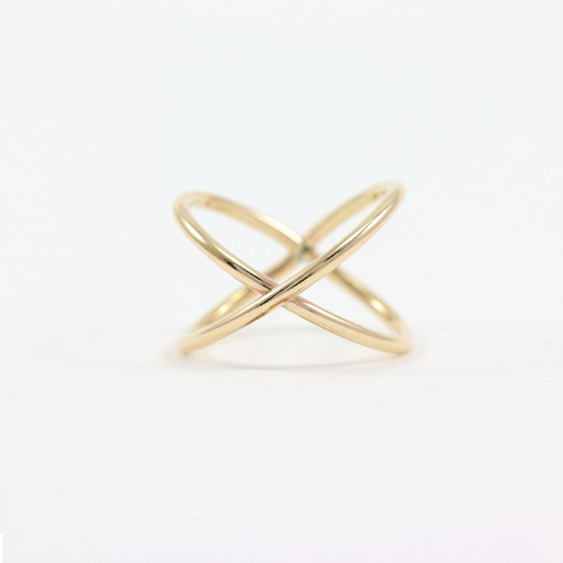 Silver X Ring Sterling Silver X Ring Gold Criss Cross Ring Rose Gold Ring Gold X Ring Ring for Women Criss Cross Ring X Ring