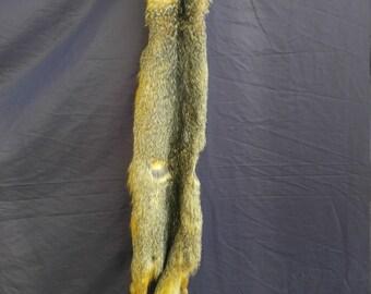 c788f73318f9c Real animal tanned gray fox skin pelt hide fur rug taxidermy | Etsy