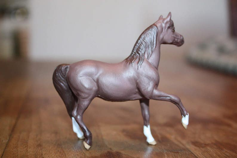 Custom painted Breyer Model Horse Stablemate size